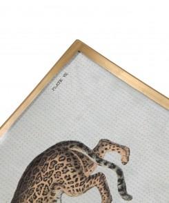 Decoupage Jaguar Plate