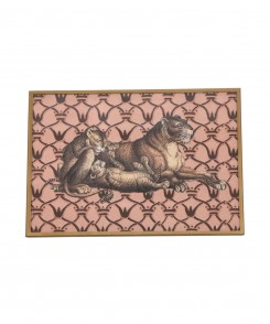 Decoupage Lion Plate