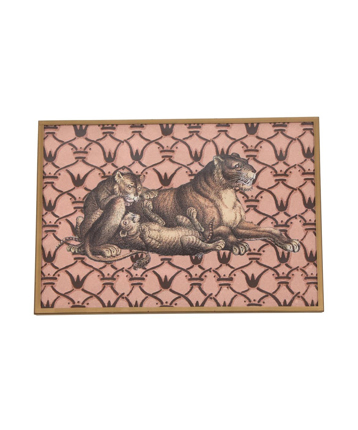 Decoupage Lion Plate