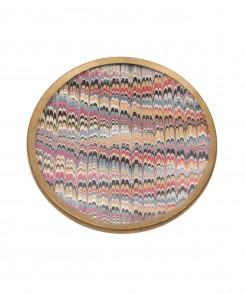 Marbleized Decoupage Dish