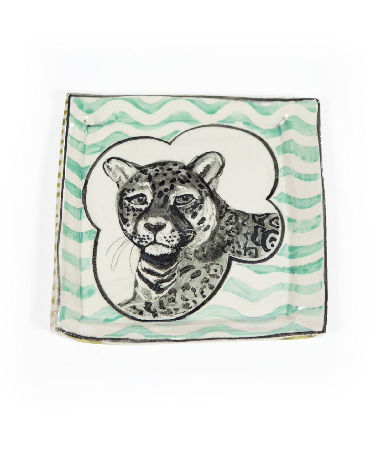 Artisan Leopard Plate
