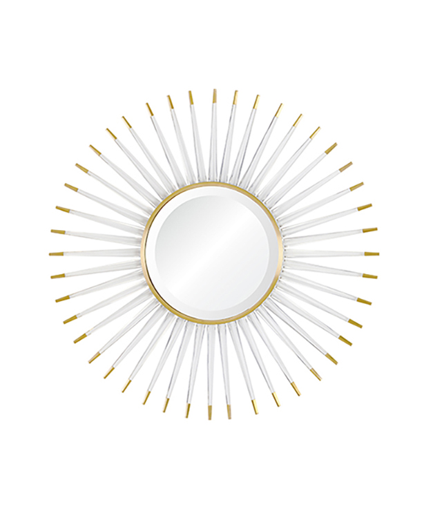 Acrylic and Brushed Brass Mirror