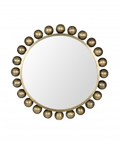 Adler Antique Brass Mirror