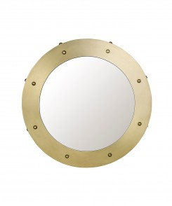 Anton Antique Brass Mirror
