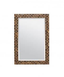 Black Horn Tile Mirror