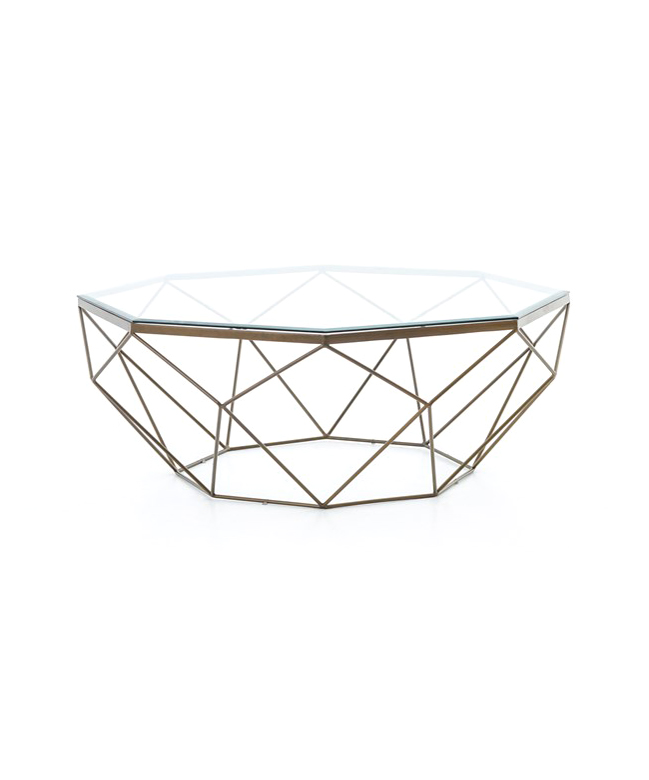 Diamond Brass Cocktail Table