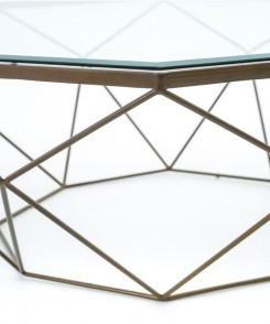 Diamond Brass Cocktail Table