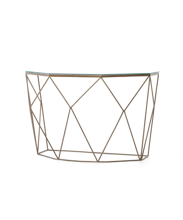 Diamond Brass Console