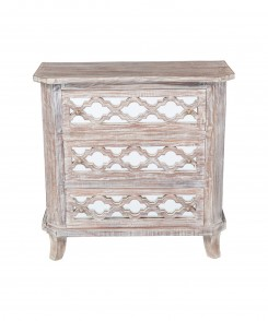 distressed Lattice Chest