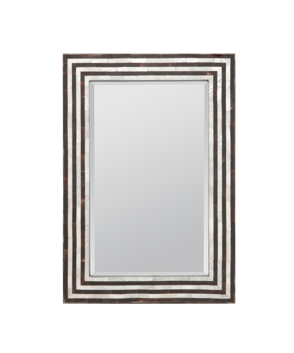 Horn and Mother of Pearl Mirror