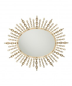 Iron Goldleaf Chain Mirror