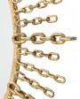Iron Goldleaf Chain Mirror