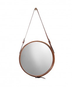 James Brown Leather Mirror