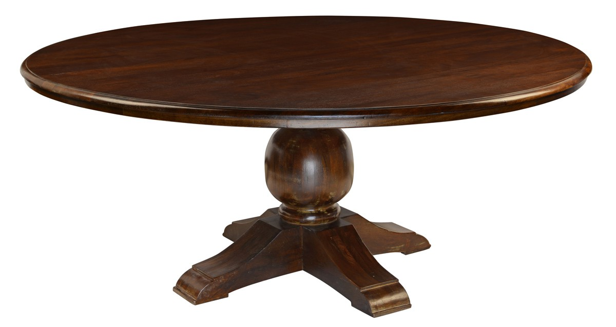 Round Mango wood dining Table