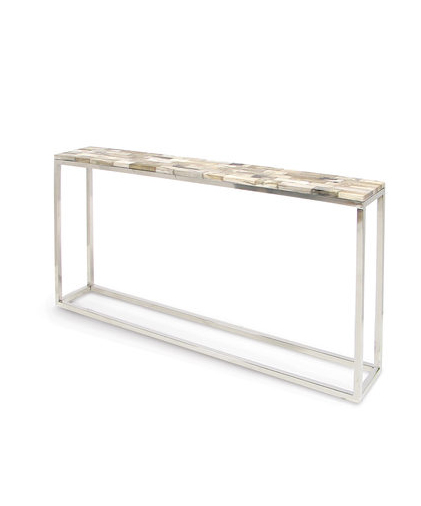 Thin Petrified Wood Console Table