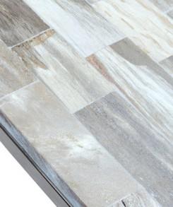 Thin Petrified Wood Console Table