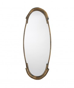 Toby Antique Brass Mirror