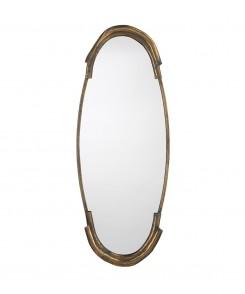 Toby Antique Brass Mirror