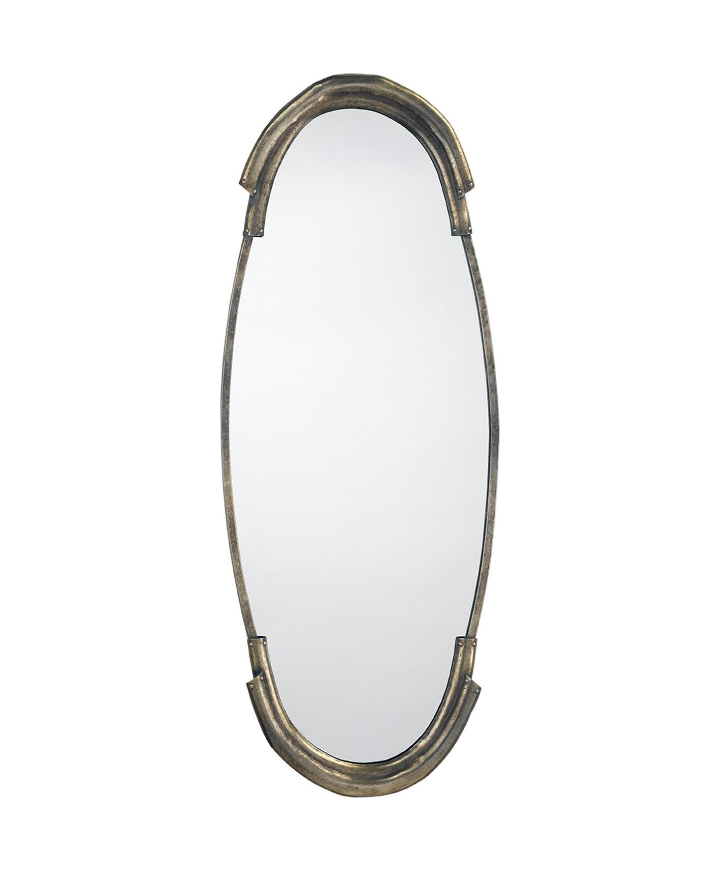 Toby Antique Silver Mirror
