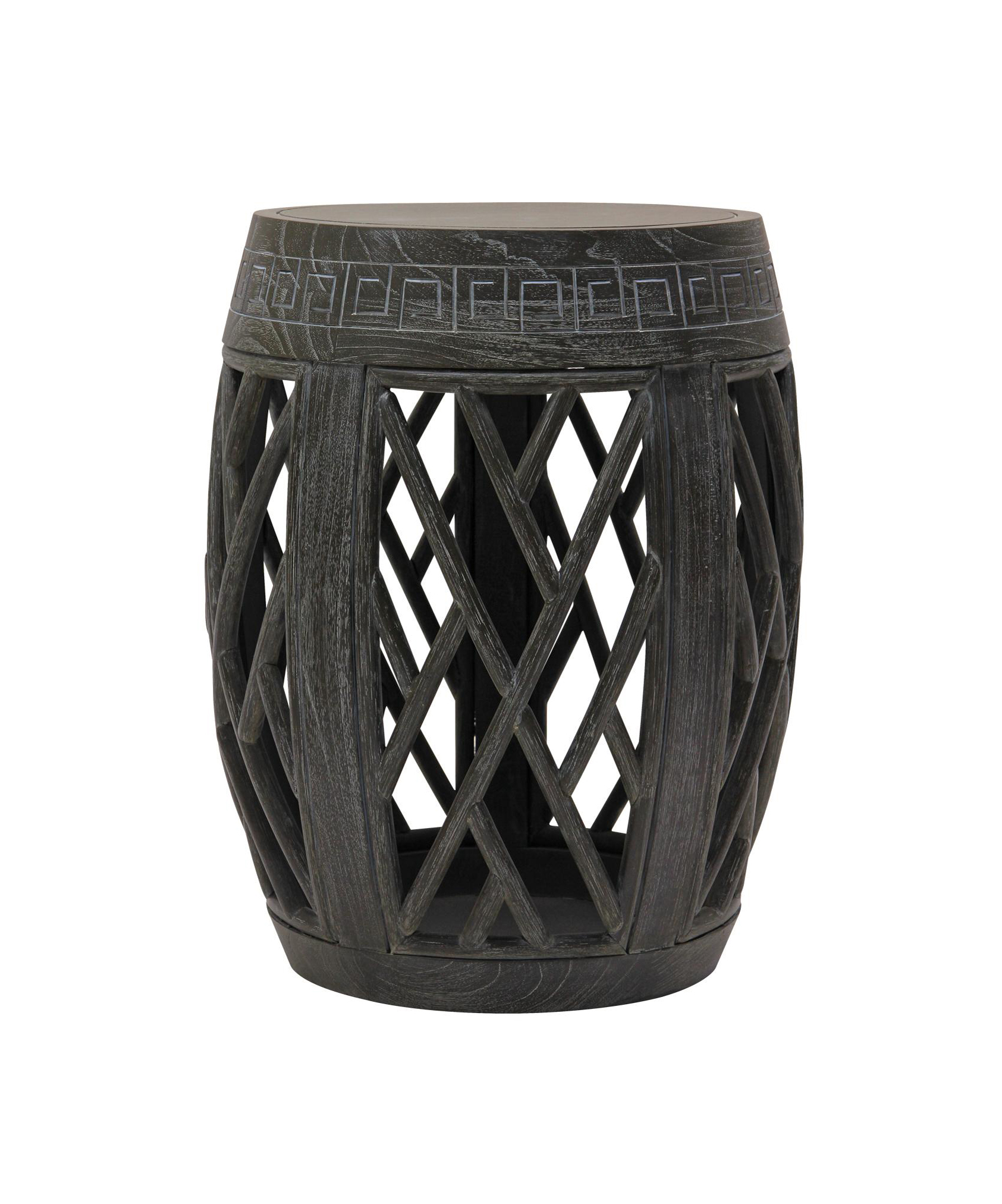 White_Bamboo_Stool