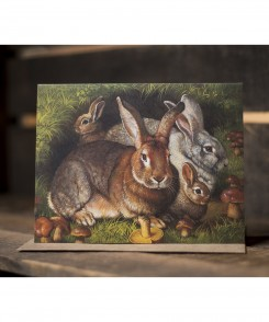 Rabbits Home with Love Card