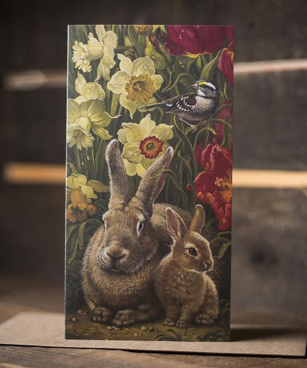 Rabbit Spring Blooming Card