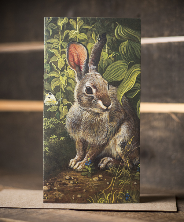 Rabbit In Garden Card