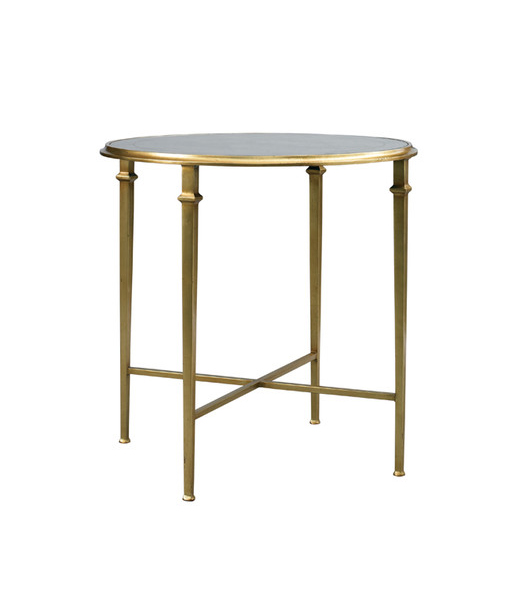 Barlow Round End Table Gold