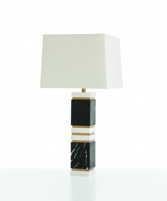 Black and White Marble Table Lamp
