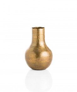 Large Hammered Brass Vase