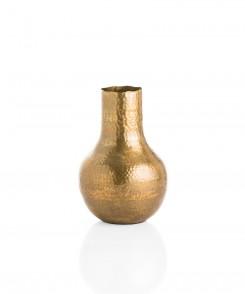 Large Hammered Brass Vase