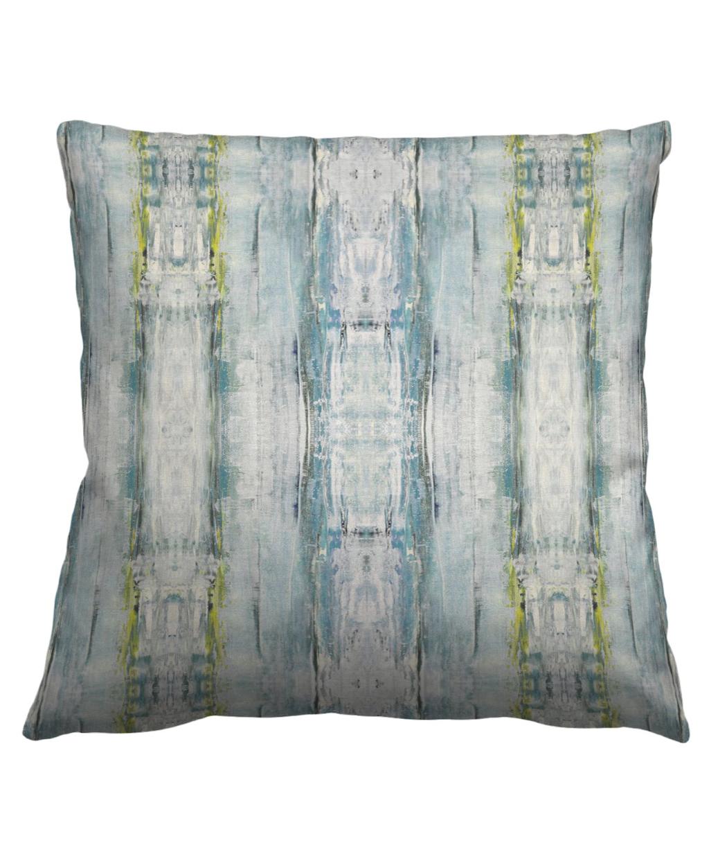 Abstract Sea Mist Pillow