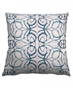 Abstract Navy Pillow