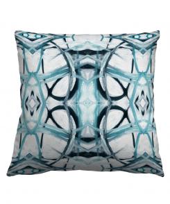Abstract Aqua Pillow