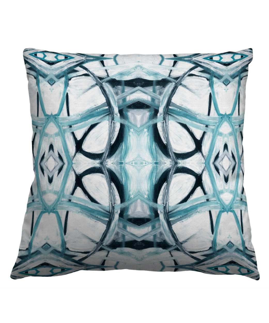 Abstract Aqua Pillow