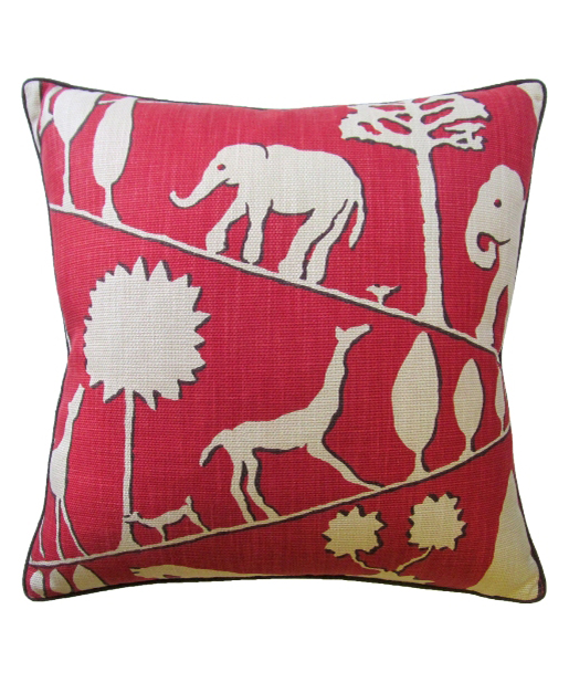Red Jungle Pillow