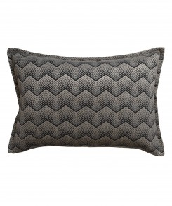 Charcoal Chevron Lumbar Pillow