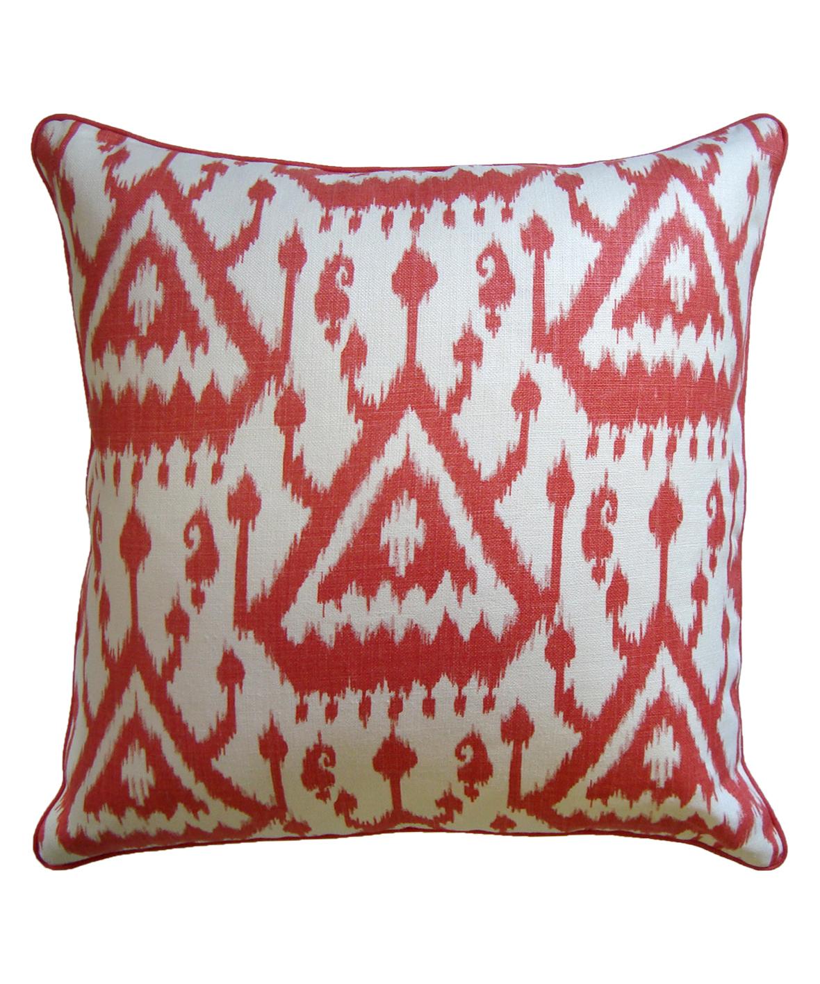 Coral Ikat Pillow
