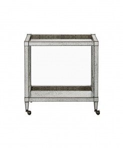 Antique Mirrored Bar Cart