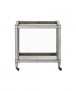 Antique Mirrored Bar Cart