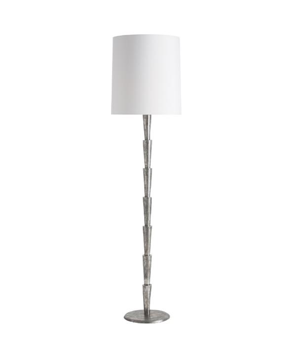 Antiqued Aluminum Floor Lamp