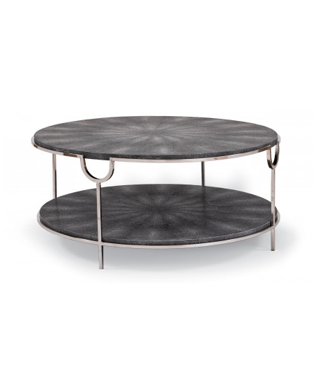 Charcoal Faux Snake Cocktail Table