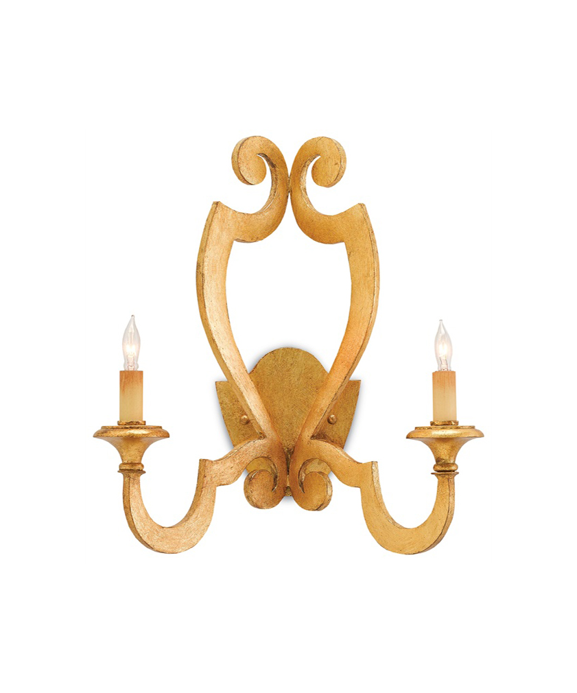 Gold Leaf Wall Sconce