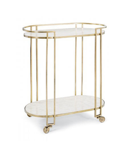 Marble and Brass Bar Cart