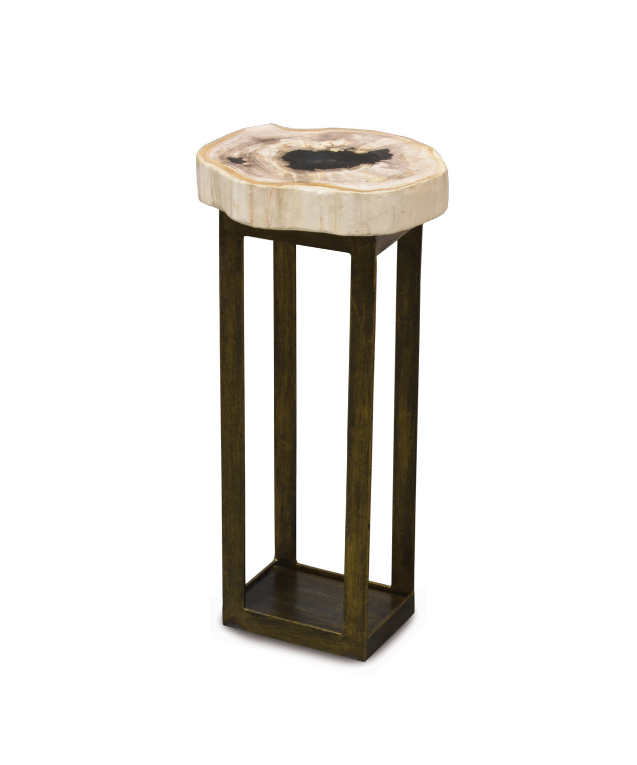 Petrified Wood Drink Table