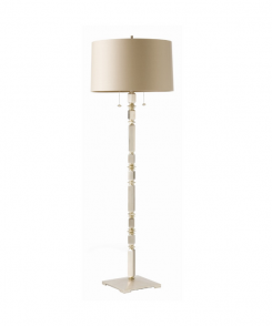 Satin Silver Floor Lamp