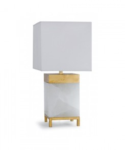 Square Alabaster Lamp
