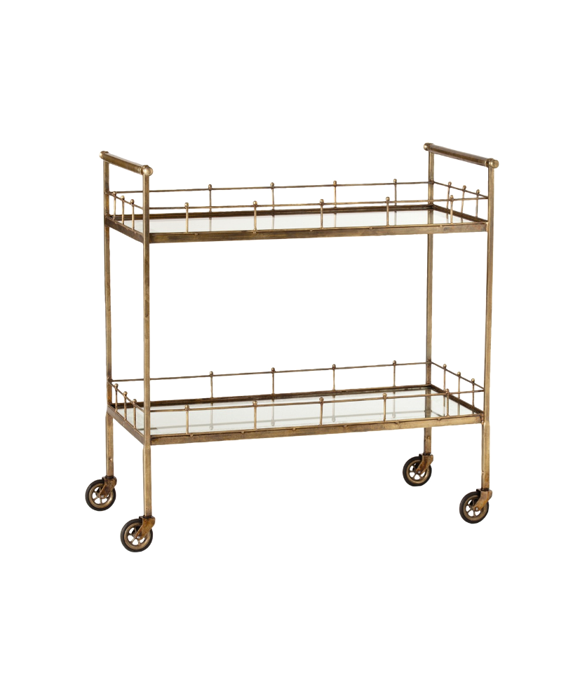 Two Tiered Bar Cart
