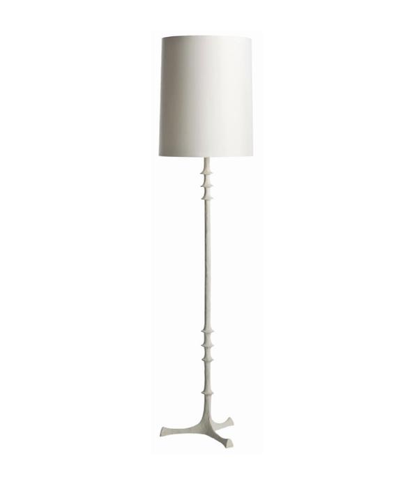 White Gesso Floor Lamp
