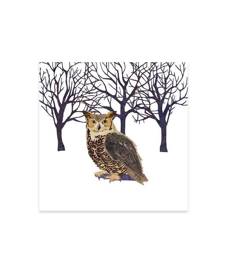 Winter Owl Cocktail Napkins